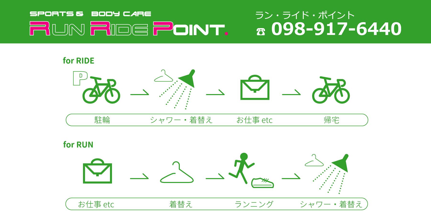 沖縄初のランニングステーション Run Ride POINT